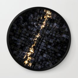 Fast lane city Wall Clock