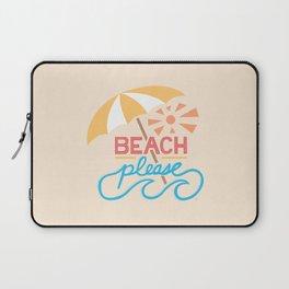 Beach Please Hand Lettering Laptop Sleeve