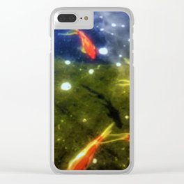 Taking A Swim Clear iPhone Case