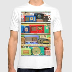 The Golden Age of Radio Mens Fitted Tee White MEDIUM