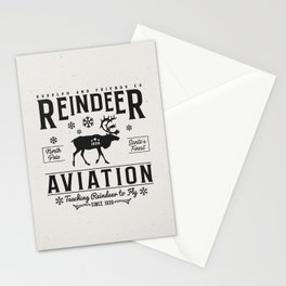 Reindeer Aviation - Christmas Stationery Cards