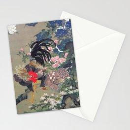 Jakuchu Niwatori Rooster Stationery Cards