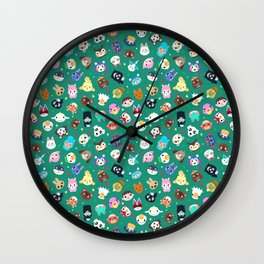 Happy Town Wall Clock