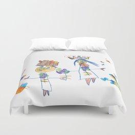King, queen and butterflies Duvet Cover