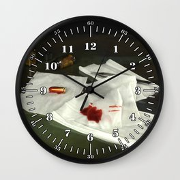 Bullet extraction Wall Clock