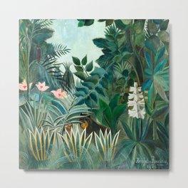 Henri Rousseau - The Equatorial Jungle Metal Print