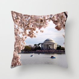 Cherry Blossoms of DC Throw Pillow