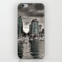 vancouver iPhone & iPod Skins featuring Vancouver Waterfront by Anthony M. Davis