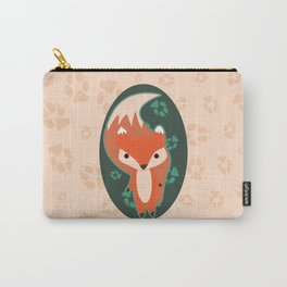 Fox with Paw Prints Carry-All Pouch