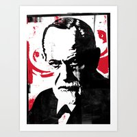 freud Art Prints featuring Freud by Taylor Callery Illustration