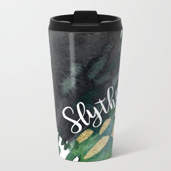 Slytherin Green Metal Travel Mug