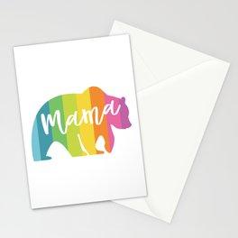 MAMA BEAR RAINBOW Stationery Cards