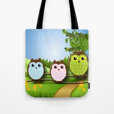 Country Owls Tote Bag