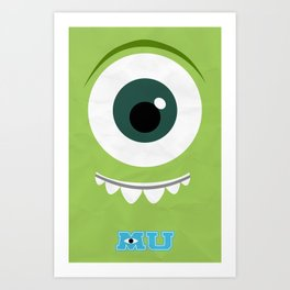 Monsters University Minimalist Poster Art Print