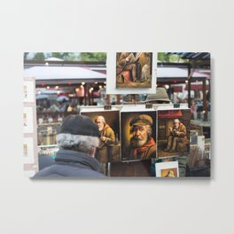 Paris Montmartre painting Metal Print