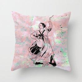 Mago's Janggu Chum  (Traditional Korean dancer with drum) Throw Pillow