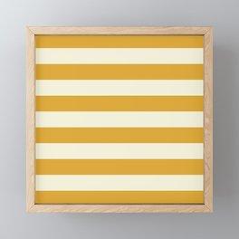 Yellow Stripes Bold Framed Mini Art Print