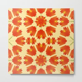 Colorful Floral Print Vector Style Metal Print