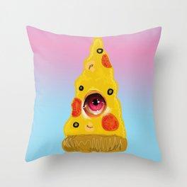 Pizza Eye Throw Pillow
