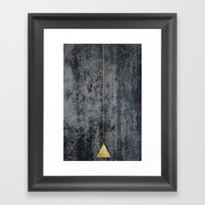gOld triangle Framed Art Print