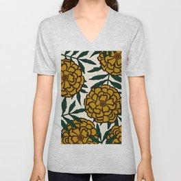 Yellow Marigolds Unisex V-Neck
