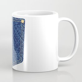Plain Denim Pocket Coffee Mug