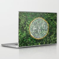 tree rings Laptop & iPad Skins featuring Tree Rings by Zoë Miller