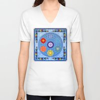 chakra V-neck T-shirts featuring Chakra Vision by Sunshine
