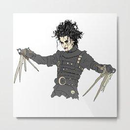 Edward Scissorhands Metal Print