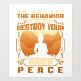 INNER PEACE Motivational Inspiring Quote Art Print