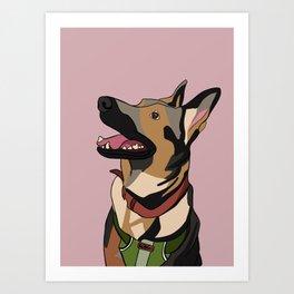 A girl's best friend. Art Print