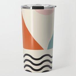 Fine Art Prints - Modern Abstract Wall Art Print, Mid Century Prints - Abstract Print, Modern Retro Travel Mug