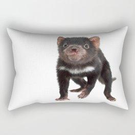 An adorable Tasmanian devil joey Rectangular Pillow