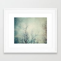 poem Framed Art Prints featuring Winter Poem  by Laura Ruth