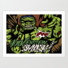 Hulkenstein SMASH! Art Print