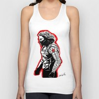 winter soldier Tank Tops featuring Winter Soldier by Lydia Joy Palmer