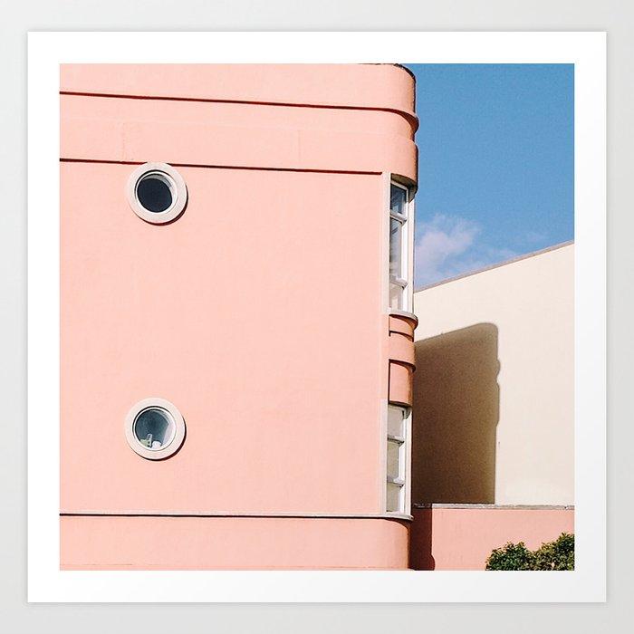 Thinking Pink in San Francisco Art Print