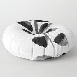Black Fern Floor Pillow