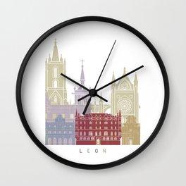 Leon skyline poster Wall Clock