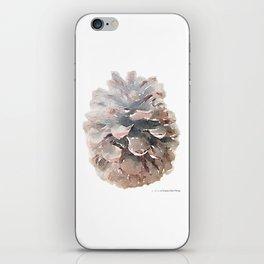Pinecone Watercolor Art iPhone Skin