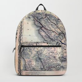 Map of California [and Nevada] 1876 Backpack