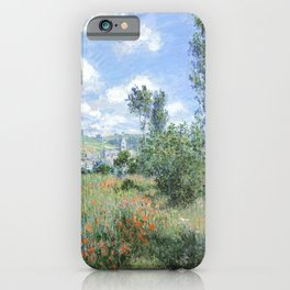 View of Vetheuil (1880) by Claude Monet high resolution famous painting iPhone Case