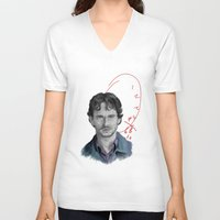 will graham V-neck T-shirts featuring Hannibal - Will Graham by firatbilal