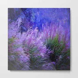 Purple long grass Metal Print