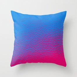 Blue Pink Gradient Throw Pillow