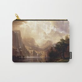Albert Bierstadt - Among the Sierra Nevada, California Carry-All Pouch