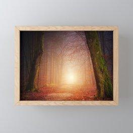 Sunset Forest Framed Mini Art Print