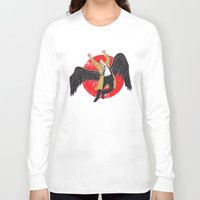 led zeppelin Long Sleeve T-shirts featuring Cas Zeppelin by DiHA