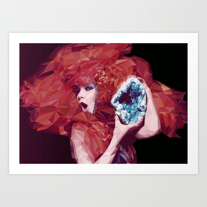 Bjork Low Poly Collection Art Print