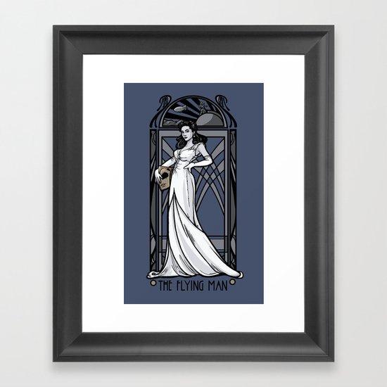 The Flying Man Framed Art Print